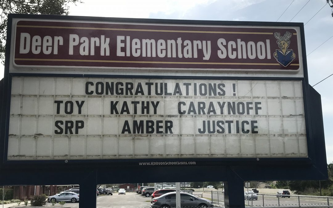 Congratulations Teacher of the Year and SRP of the Year